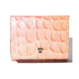 ラグーン 三つ折りBOXミニ財布 ピンク2