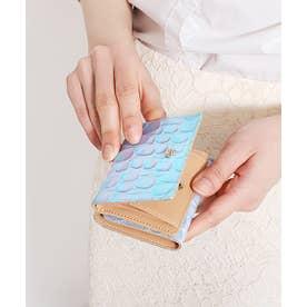 ラグーン 三つ折りBOXミニ財布 パープル2