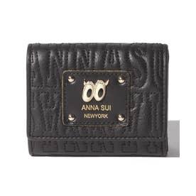ピーク ア ブー 三つ折りBOXミニ財布 ブラック