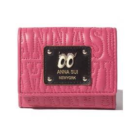 ピーク ア ブー 三つ折りBOXミニ財布 ピンク1