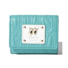 ピーク ア ブー 三つ折りBOXミニ財布 グリーン