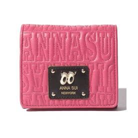 ピーク ア ブー 二つ折りBOX財布 ピンク1