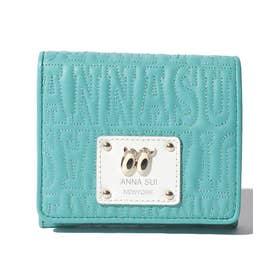 ピーク ア ブー 二つ折りBOX財布 グリーン