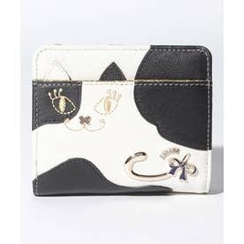 マイティティモウモウ 二つ折りファスナー財布 ホワイト