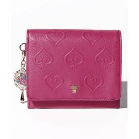 スイハート 二つ折りBOX財布 ピンク1