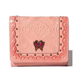 シエスタ 二つ折りBOX財布 ピンク2