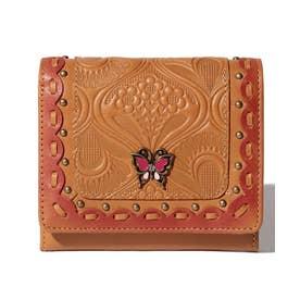 シエスタ 二つ折りBOX財布 ベージュ