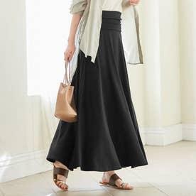 2WAYフレアーマキシスカート (ブラック)