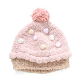 ベビー帽子(女児) (ピンク)