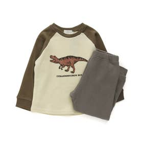 恐竜ルームウェア/パジャマ (ブラウン)