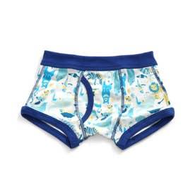 3色3柄Boy'sボクサーパンツA (ブルー)