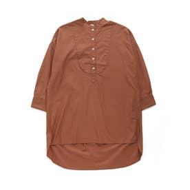 ヨークデザインシャツチュニック(WOMEN) (キャメル)