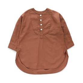 ヨークデザインロングシャツ (キャメル)