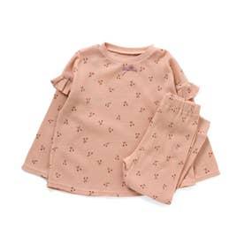 かぶり総柄パジャマ(さくらんぼ柄) (ピンク)