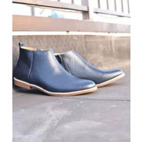 SFW AAA+ 軽くて履きやすくて歩きやすい!シンプルで合わせやすく履いた時のシルエットがきれいなショートブーツ/2356 (ネイビー)