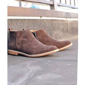 SFW AAA+ 軽くて履きやすくて歩きやすい!シンプルで合わせやすく履いた時のシルエットがきれいなショートブーツ/2356 (ブラウンスエード)