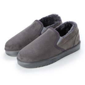 SFW AAA? ふわっふわのボアが暖かくて快適な履き心地 軽くて歩きやすいムートンスリッポン/2329 (グレー)
