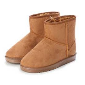 SFW AAA+ feminine ふわっふわのボアが暖かくて快適な履き心地♪軽くて歩きやすいムートンブーツ/3519 (キャメル)