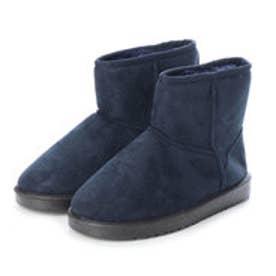 SFW AAA+ feminine ふわっふわのボアが暖かくて快適な履き心地♪軽くて歩きやすいムートンブーツ/3519 (ネイビー)