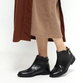 SFW 美シルエット、履き心地やわらかベルト付きブーツ/3591 (ブラックピーユー)