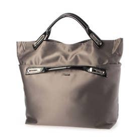 abbi Fashionバッグ 2Way コンバーティブルトート グレー (グレー)