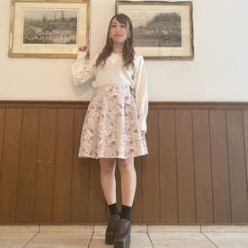 花柄タックスカート (ライトピンク)