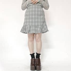 ミニマーメイドスカート (ブラック系2)