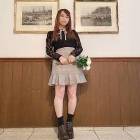 ミニマーメイドスカート (ブラウン系1)