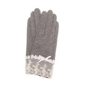 抗菌/UV対策/接触冷感 レース手袋 (グレー)