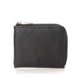 牛革製L字ファスナー ミニ財布 (ブラック)