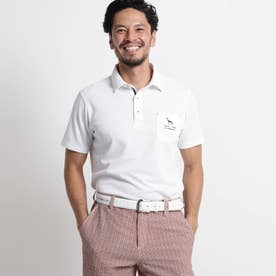 【吸水速乾/UVカット】胸ポケット付き半袖ポロシャツ (ホワイト)