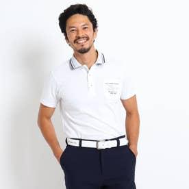 【数量限定】バックデザイン半袖ポロシャツ (ホワイト)