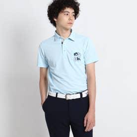 【吸水速乾/UVカット/遮熱】胸ポケット付き半袖ポロシャツ (ライトブルー)