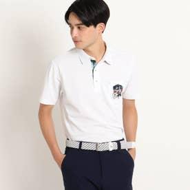 【吸水速乾/UVカット/遮熱】胸ポケット付き半袖ポロシャツ (ホワイト)
