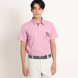 【吸水速乾/UVカット/遮熱】胸ポケット付き半袖ポロシャツ (ラズベリーピンク)