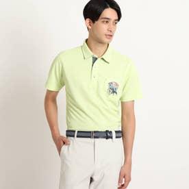 【吸水速乾/UVカット/遮熱】胸ポケット付き半袖ポロシャツ (イエローグリーン)