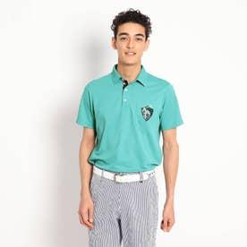 【吸水速乾/UVカット】襟裏デザイン半袖ポロシャツ (ライトグリーン)