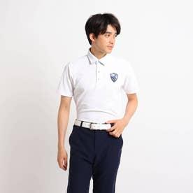 【吸水速乾/UVカット】襟裏デザイン 半袖ポロシャツ (ホワイト)