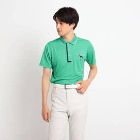 【coolcore(クールコア)/UVカット】襟裏ロゴデザイン半袖ポロシャツ (グリーン)
