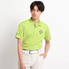 【吸水速乾/UVカット】襟裏デザイン 半袖ポロシャツ (ライトグリーン)