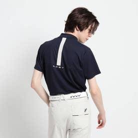 【coolcore(R)(クールコア)/UVカット】バックデザイン モックネックプルオーバー (ネイビー)