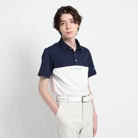 【吸水速乾/UVカット】バイカラー 半袖ポロシャツ (ホワイト)