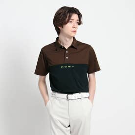 【吸水速乾/UVカット】バイカラー 半袖ポロシャツ (ブラック)