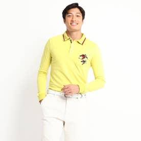 定番ベーシック長袖ポロシャツ 吸湿発熱/胸ポケット (レモンイエロー)