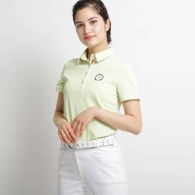 【吸水速乾/UVカット】襟裏デザイン半袖ポロシャツ (イエローグリーン)