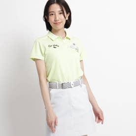 【吸水速乾/UVカット/遮熱】ロゴ刺しゅう半袖ポロシャツ (イエローグリーン)