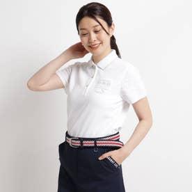 【数量限定】異素材ドッキング半袖ポロシャツ (ホワイト)