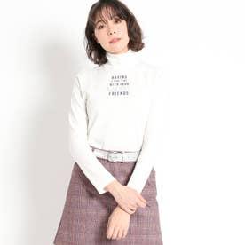 【吸湿発熱】センターロゴ ハイネックプルオーバー (ホワイト)