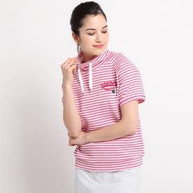 【吸水速乾/UVカット】ミニチェック柄 半袖プルオーバー (ピンク)