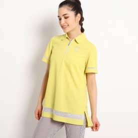 【遮熱効果/吸水速乾/UVカット】 チュニック丈半袖ポロシャツ (レモンイエロー)